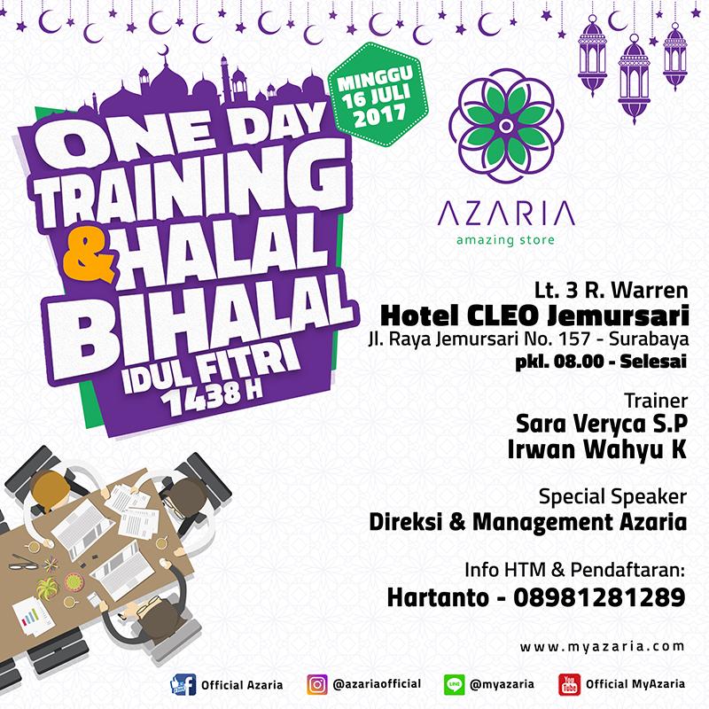 One Day Training & Halal Bihalal Idul Fitri 2017